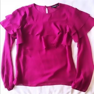 EXPRESS WOMEN'S BLOUSE IN MAGENTA (XS)